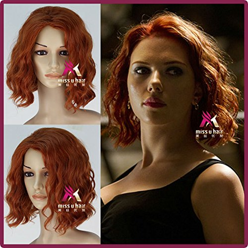 The Avengers Black Widow Wig