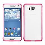 kwmobile Custodia semplice ma elegante per il Samsung Galaxy Alpha con superficie posteriore trasparente e telaio...