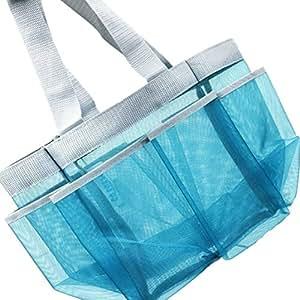 Go Fresh Shower Caddy, Now 30% Larger Than Most Caddies - 7 Pocket, Aqua Blue, Quick Dry & Rustproof