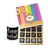 Rich Dark Truffle Collection With Birthday Mug - Chocholik Belgium Chocolates