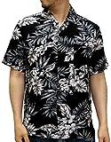 (ルーシャット) ROUSHATTE アロハシャツ 半袖 シャツ レーヨン ハイビスカス 12color M 柄2