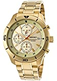Seiko Men's SKS404 Gold Stainless-Steel Quartz Watch with Gold Dial