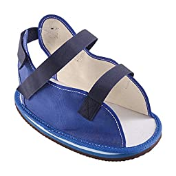 DMI Rocker Bottom Cast Shoe Post-Op Shoe, Large, Blue