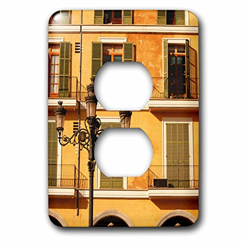 Danita Delimont - Lamps - Spain, Balearic Islands, Mallorca. Plaza Mayor. - Light Switch Covers - 2 plug outlet cover (lsp_209872_6)
