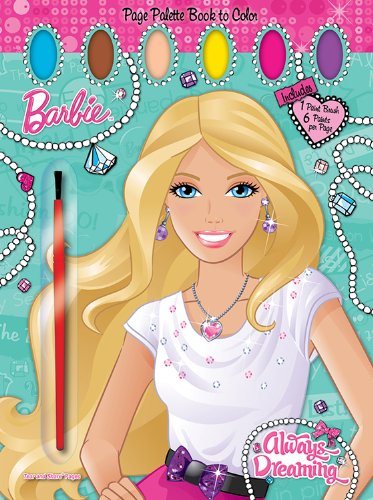Barbie: Always Dreaming: Page Palette Book to Color