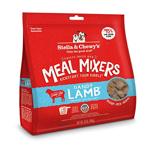 Stella & Chewy's Freeze-Dried Raw Dandy Lamb Meal Mixers Dog Food Topper, 18 oz. Bag