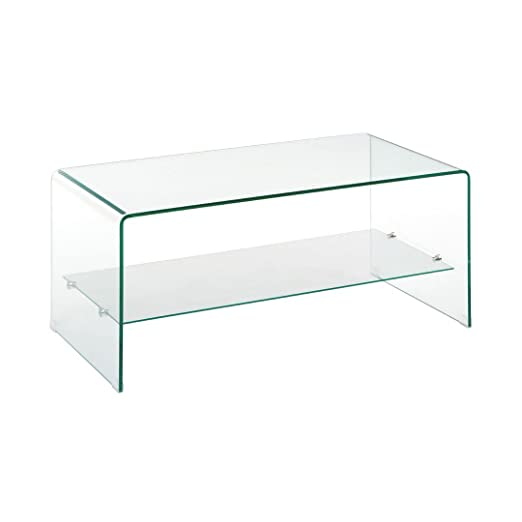 Protege Homeware 2 Tier Bent Glass Coffee Table