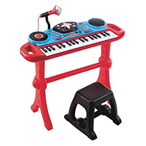 Keyboard and Stool - Red