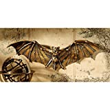 Design Toscano Cyber Bat Steampunk Halloween Wall Sculpture