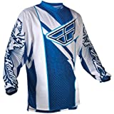 365-521YX - Fly Racing 2012 Youth F-16 Motocross Jersey XL Blue/White