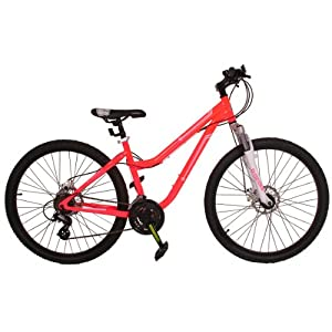 Ladies 26 Inch MuddyFox Parklane Mountain Bike in Dark Pink.
