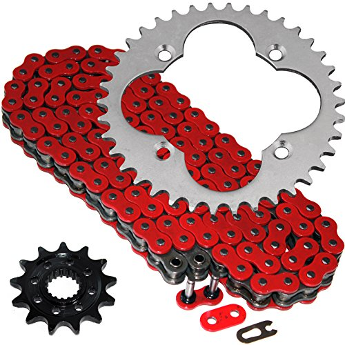 Caltric Red O-Ring Drive Chain & Sprockets Kit Fits HONDA 450ER TRX450ER TRX-450ER 2006-2014 (2014 Honda 450 compare prices)