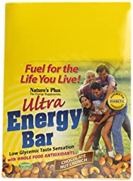 Nature\'s Plus Ultra Energy Bar Chocolate Nut Crunch -- 12 Bars