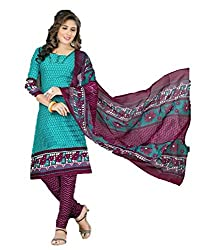 Preeti Fashion Women's Synthetic Unstitched Dress Material (Pack Of 2) (D3013_2_Multicolor_Free Size)
