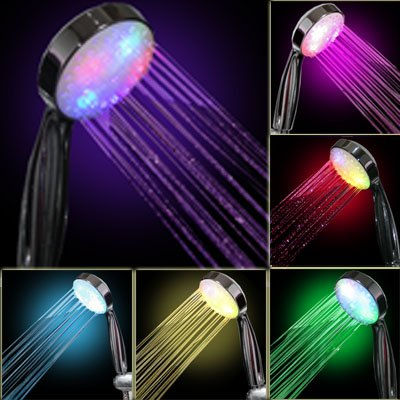 Purchase 7 COLOR LED SHOWER HEAD ROMANTIC LIGHTS WATER HOME BATH - Xmas day