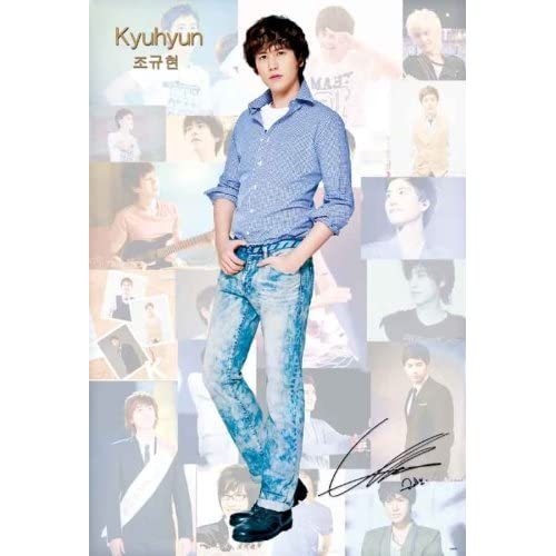 Kyuhyun of Super Junior great POSTER 23.5 x 34 Superjunior Suju Korean boy band frontman collage (sent from USA in PVC pipe)