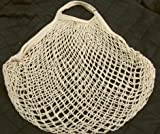 Cotton Linen String Mesh Shopping Bag - Natural