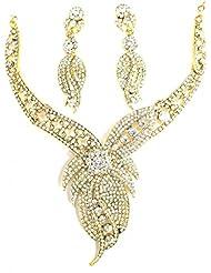 PARTY WEAR AUSTRIAN DIAMOND NECKLACE SET BY ZAVERI PEARLS-ZPFK1222