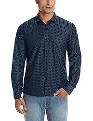 Dennison Men's Casual Shirt (SS-16-433_42_Purple)