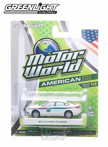 2013 Ford Fusion (White) * 2014 Motor World * Series 10 American Edition 1:64 Scale Die-Cast Vehicle - 1
