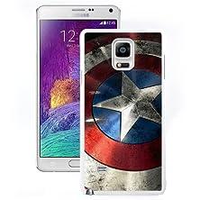 buy Brand New Custom Captain America Shield Samsung Galaxy Note 4 White Case