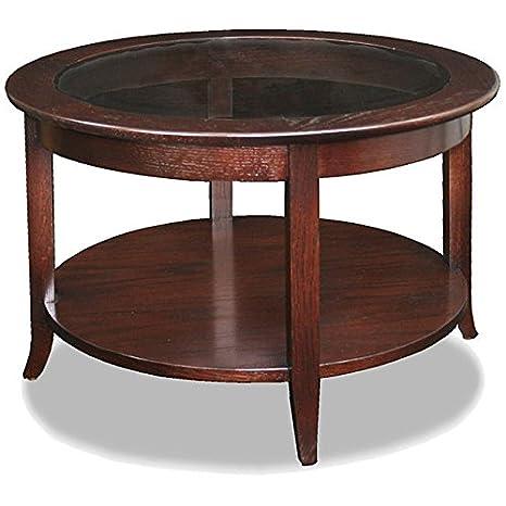 Metro Shop Chocolate Bronze Round Coffee Table