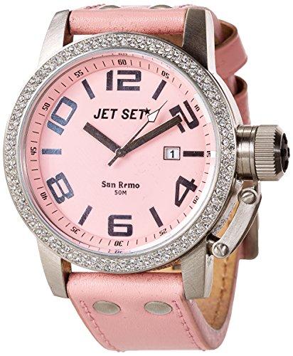 Jet Set J28584-535 - Orologio da polso donna, pelle, colore: rosa
