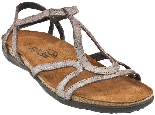 Naot Women's Dorith Sandals,Silver Threads Leather,37 M EU
