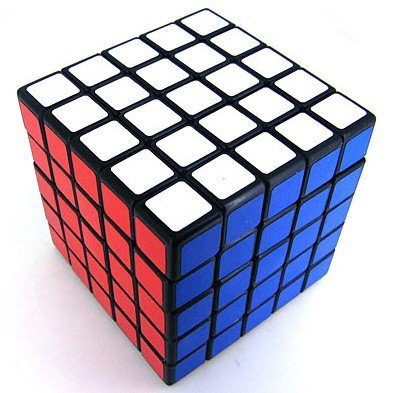 5x5x5 Cube Puzzle ,Shengshou Black Speed Cube (Frosted Sticker Type,not PVC)