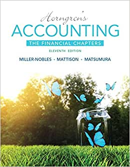 Horngren's Accounting, The Financial Chapters Plus MyAccountingLab With Pearson EText -- Access Card Package (11th Edition)