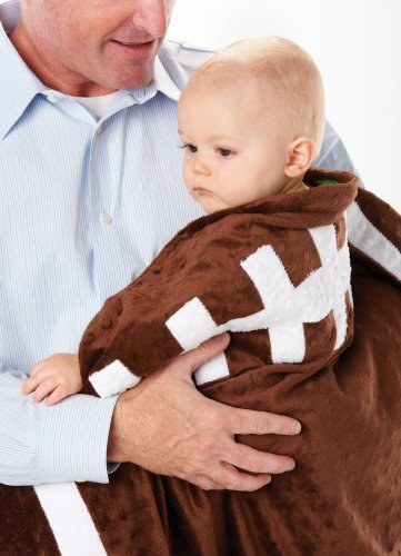 Mud Pie Football Blanket for Baby and Toddler - 1