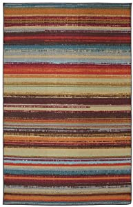 Mohawk Home Avenue Stripe Outdoor Area Rug, 96 by 120-Inch, Multicolored