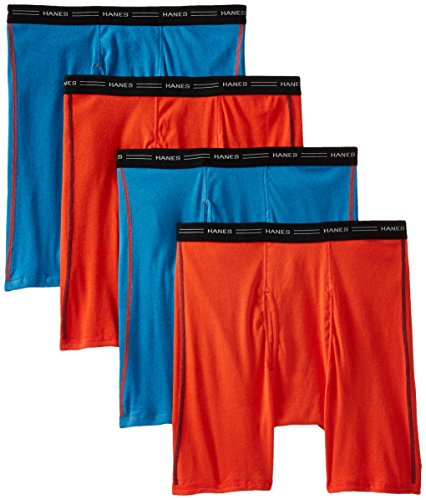 Hanes Men's 4 Pack FreshIQ Cool DRI No Ride Up Boxer Briefs, Cool Dri Assorted, XX-Large