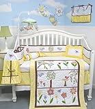 SoHo Summer Bird Singing Crib Nursery Bedding SET 10pcs ** Reversible Into  ....
