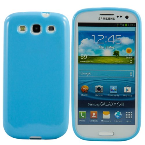 Deep Blue Gel Tpu Silicone Soft Skin Gel Cover Case For Samsung Galaxy S3 Iii I9300 front-1011956
