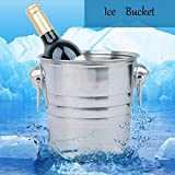 """""""Stainless Steel Ice Bucket Champagne Barrel Beer Wine Cooler"""" shopping"""