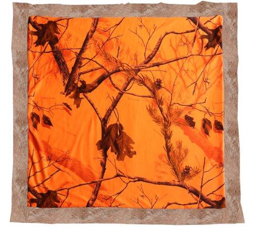 Carstens RT347 Realtree Blaze Baby Blanket, Orange