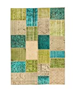 Design Community By Loomier Alfombra Anatolian Patchwork Fresh (Verde/Azul/Beige)