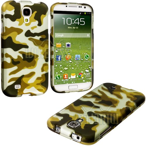 "Mylife (Tm) Dirty Green Camo Series (2 Piece Snap On) Hardshell Plates Case For The Samsung Galaxy S4 ""Fits Models: I9500, I9505, Sph-L720, Galaxy S Iv, Sgh-I337, Sch-I545, Sgh-M919, Sch-R970 And Galaxy S4 Lte-A Touch Phone"" (Clip Fitted Front And Back So"