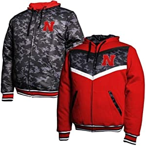 Nebraska Cornhuskers Black Ops Reversible Full Zip Hoodie