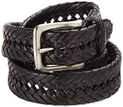Tommy Hilfiger Mens Braided Belt, Black, 32