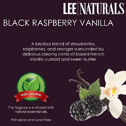 Black Raspberry Vanilla Premium 6-Piece 6.4 Oz Soy Wax Melt Clamshell - 2-Pack Of Naturally Strong Scented Soy Wax Cubes Throw 50+ Hours Of Fragrance When Melted In Scentsy®, Yankee Candle® Or Standard Electric Tart Warmer