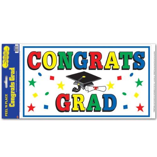 Congrats Grad Peel 'N Place Party Accessory (1 count) (1/Sh)