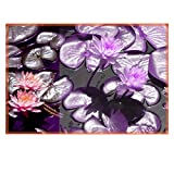 Leaf Designs Purple Lotus Table Mats - Set Of 6