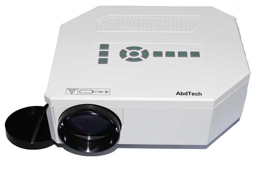 Abdtech New Hdmi Portable Mini LED Projector Home Cinema Theater Av VGA USB Sd