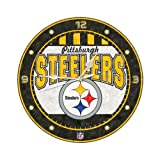 Pittsburgh Steelers 12 Inch Art Glass Clock Amazon.com