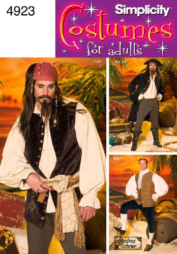 Simplicity Sewing Pattern 4923 Men Costumes, AA (XS-S-M) (Mens Sewing compare prices)