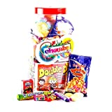 Retro Sweet Shop Gift Jar by Chewbz, filled with 2 kilo's of classic sweetshop retro sweets including fried eggs, shrimps, fizzers, drumsticks and more. Fantastic value and a perfect present for retro sweet fans.