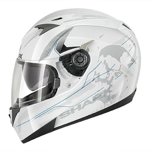 HE0430EWBSM - Shark S700-S Naka Motorcycle Helmet M White (WBS)