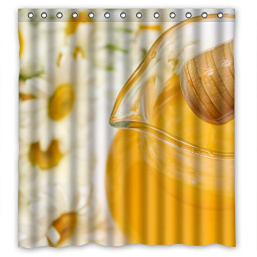 "Sale alerts for Malcolm-Fashion Chrysanthemum and orange juice Shower Curtain Measure 66""(w)X72""(h) - Covvet"